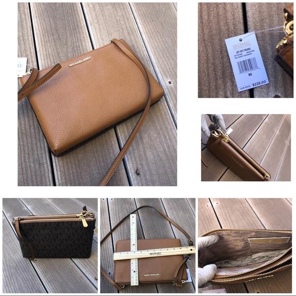 80c50a3fbbb4 Michael Kors Bags | Nwt Double Gusset Crossbody Handbag | Poshmark